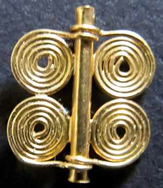 22ct Gold Quadruple Spiral Bead From Marlik,  Iran,  1250 - 900bc photo