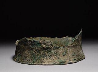 Ancient Greek Macedonian Bronze Pilos Hoplite Battle Helmet 350 B.  C. photo