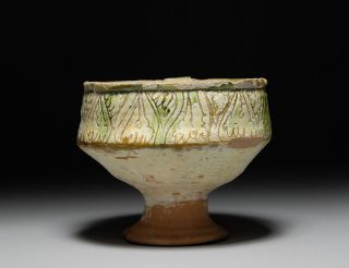 Ancient Medieval Byzantine Cypriot Sgraffito Glazed Pottery Bowl photo