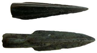 Thrace Triangular Bronze Arrows 40x9 38x8mm/ 4.  60g M - 293 photo