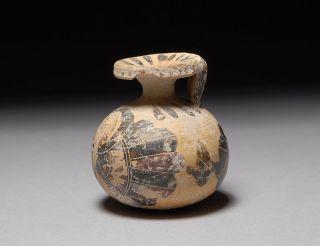 Ancient Greek Corinthian Aryballos Athletes Perfume Oil Flask photo