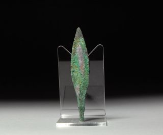 Ancient Persian Bronze Age Quad Arrow Head Weapon - 1200 B.  C. photo