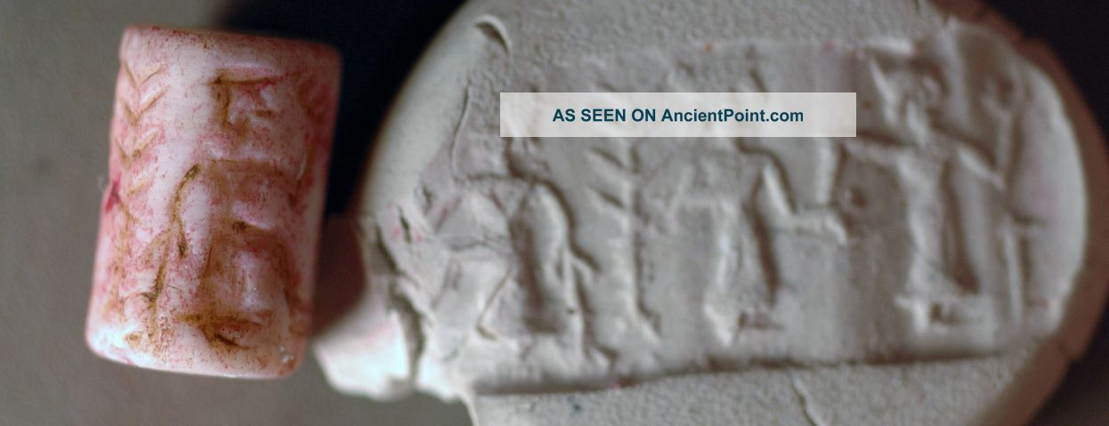 Rolling Stamp,  Levantine Stone With Figures Over 2000 Years Old Near Eastern photo