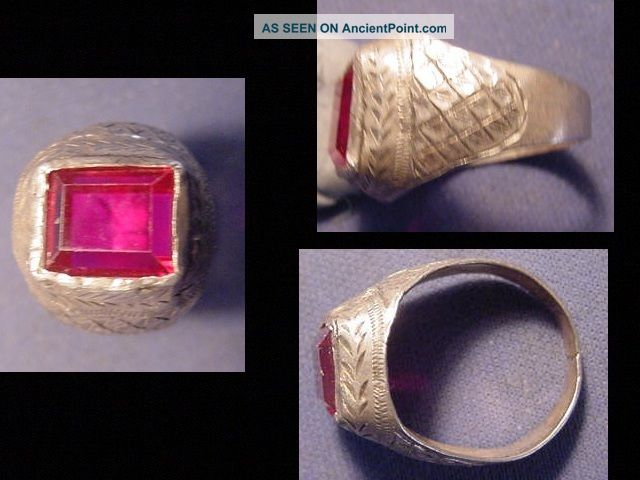 Near Eastern (afghanistan) Silver Ring,  Facered Stone Circa Post 1800 Near Eastern photo