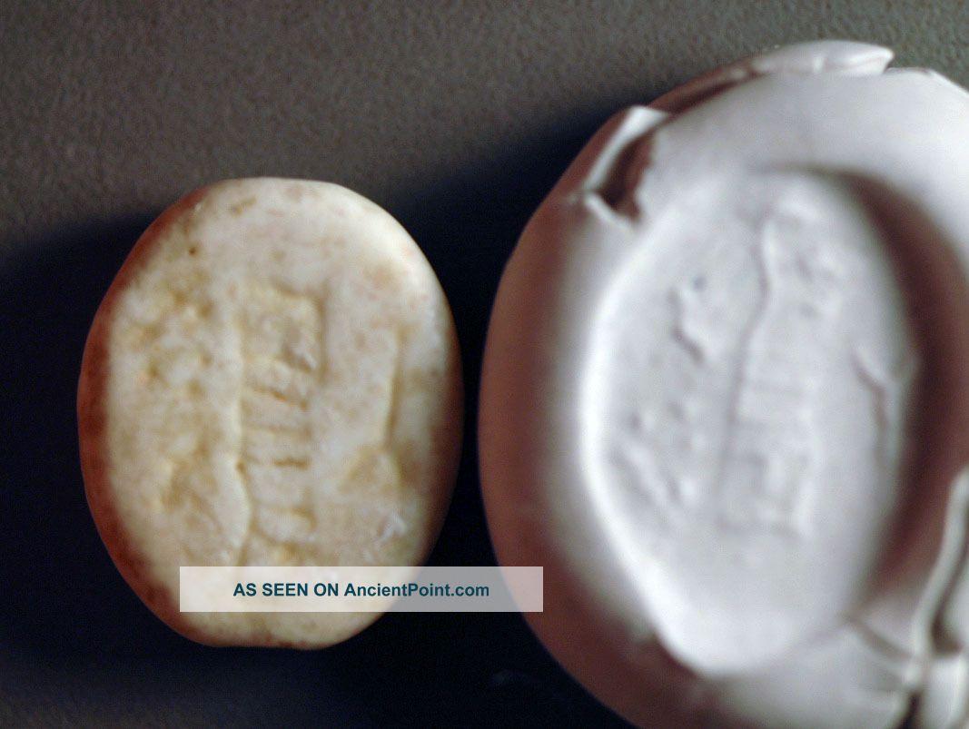 Scaraboid,  Levantine Iron Age Stone Over 2000 Years Old Near Eastern photo