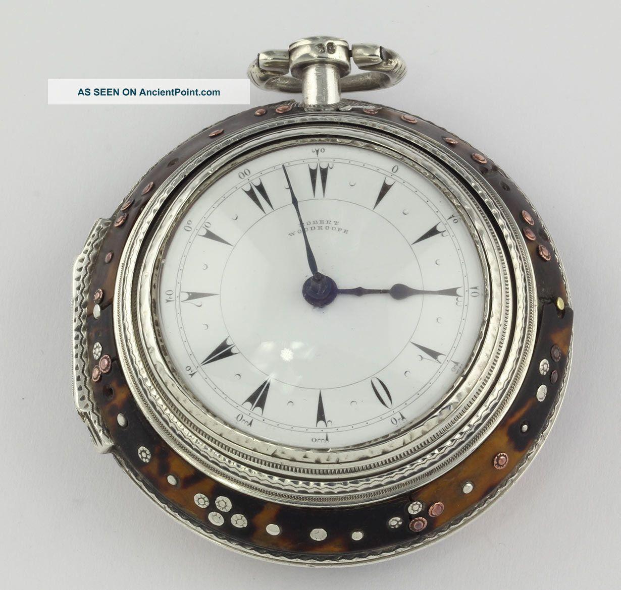 Osmanic Ottoman Triple Case Verge Fusee Pocket Watch 1798 Turkish Market Orient Near Eastern photo