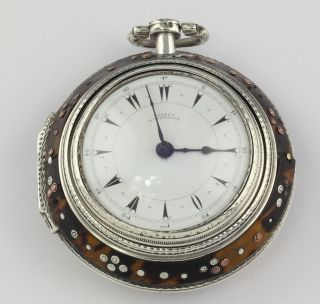 Osmanic Ottoman Triple Case Verge Fusee Pocket Watch 1798 Turkish Market Orient photo