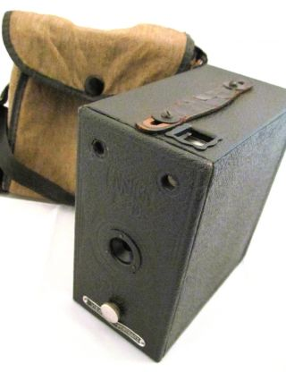 Vintage Camera Antique Ensign E29 Retro I Photography Box Old Case World War Ii photo