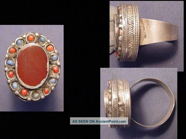 Near Eastern Silver Decorative Ring Circa Post 1800 Near Eastern photo