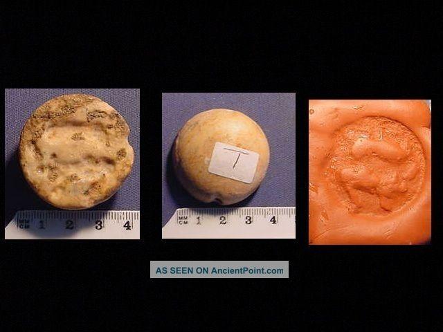 Seal Of Cream Stone Circa 3000 B.  C.  Pertaining To Jemdet Nasr Period. Near Eastern photo