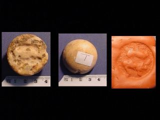 Seal Of Cream Stone Circa 3000 B.  C.  Pertaining To Jemdet Nasr Period. photo