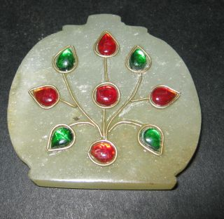 Antique Mughal Jade Pendant Indo Persian photo