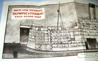 Vintage Titanic Olympic Steamer Ships Picture Guides Photos London Antique Old photo
