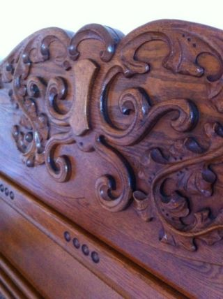 Antique Oak Bedroom Set photo