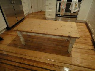 English Coffee Table - Victorian Pine Shabby Chic photo