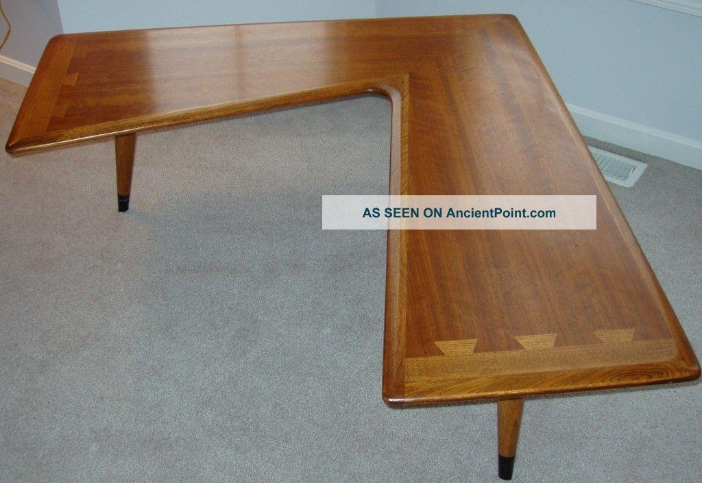 Superior Hard To Find Vintage Lane Acclaim Dove Tail Walnut Boomerang Table Furniture  Home Design Plan.
