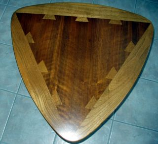 Vintage Lane Acclaim Dove Tail Walnut Guitar Pick End Table photo