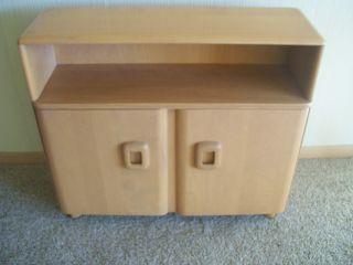 Vintage 1960s Heywood Wakefield Champagne Model 326 Solid Wood Credenza Nr photo
