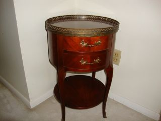 Vintage (baker) Mahogany Drum Table photo
