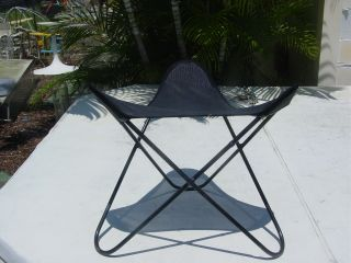 Hardoy Butterfly Chair Iron Metal Ottoman Bench Table Mid Century Modern Eames photo