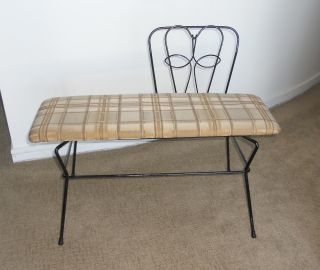 Vintage Metal Bench photo