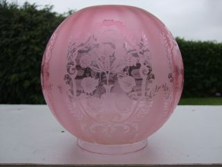Victorian Cranberry / Ruby Oil Lamp Shade photo