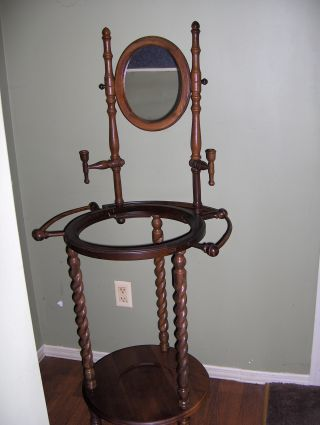 Antique Wash Basin And Pitcher Stand. photo