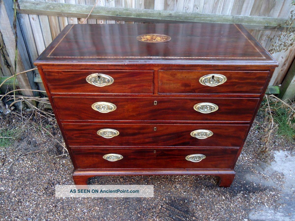 Early Georgian.  Chest Of Drawers.  C1740 - 1750. Pre-Victorian (Pre-1837) photo