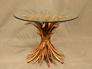 Hollywood Regency Wheat Table From The 50 ' S photo