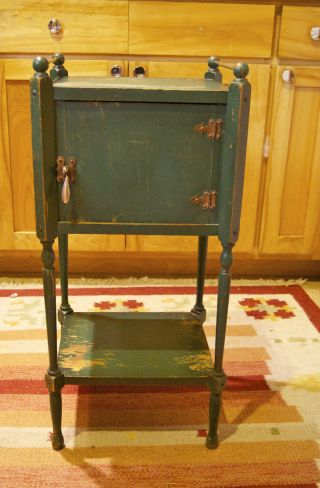 This Vintage Ideeal Smoking Stand Table Made By Metal Stampings Corporation photo