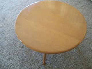 Revolving 1963 Heywood Wakefield Champagne Model 306 Solid Wood Coffee Table Nr photo