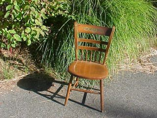 Vintage Hitchcock Stenciled Side Chair Thumb Back / Spindles (trucker Available) photo