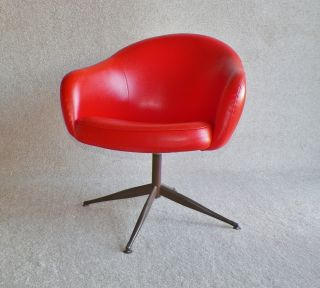 Danish Modern,  Mid Century Modern Orange Jewel,  Eames Era By Viko Baumritter photo