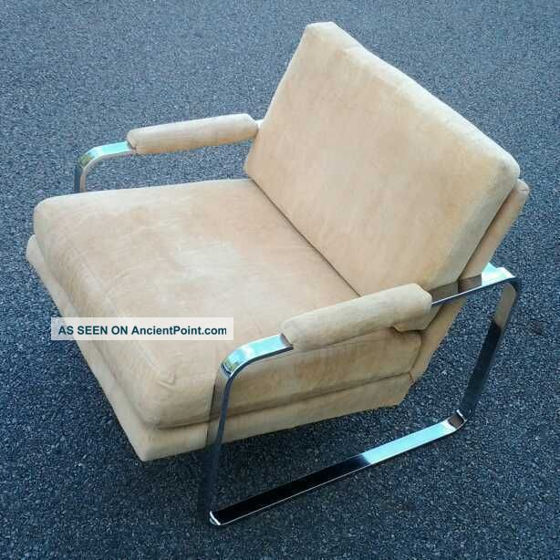 1970 ' S Milo Baughman Attributed Chrome Lounge Chair Post-1950 photo