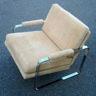 1970 ' S Milo Baughman Attributed Chrome Lounge Chair photo