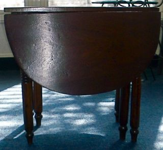 Vintage Miniature Drop Leaf Table,  Early To Mid - 20th C, photo