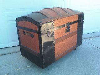 Vintage Steamer Trunk photo