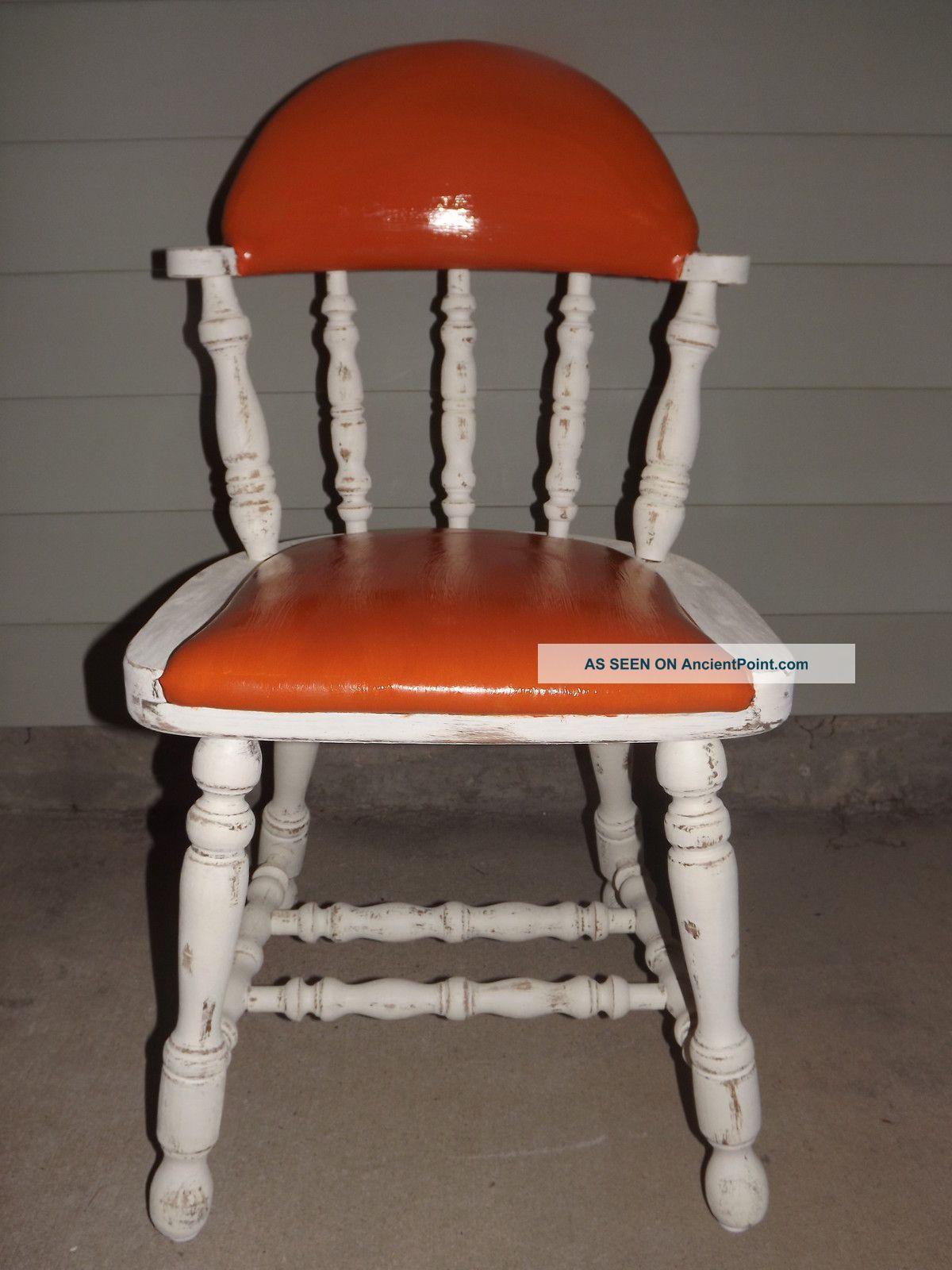 Buckstaff Vintage Orange Vinyl Chair Post-1950 photo