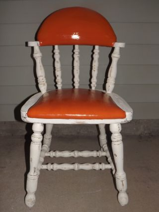 Buckstaff Vintage Orange Vinyl Chair photo