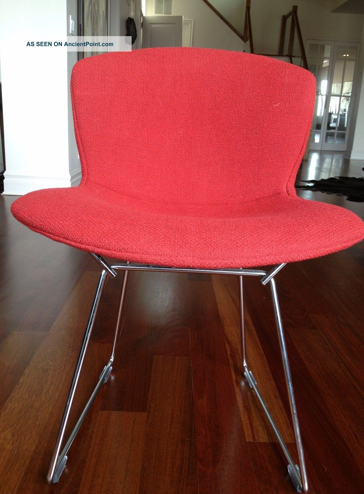 Auth.  Knoll Bertoia Wire Chair Boucle Full Cover Set Of 4 - Crimson (red) Nwot Post-1950 photo