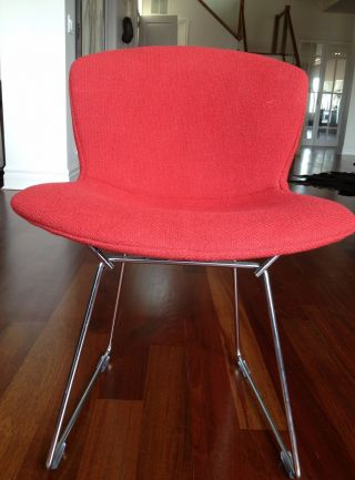 Auth.  Knoll Bertoia Wire Chair Boucle Full Cover Set Of 4 - Crimson (red) Nwot photo