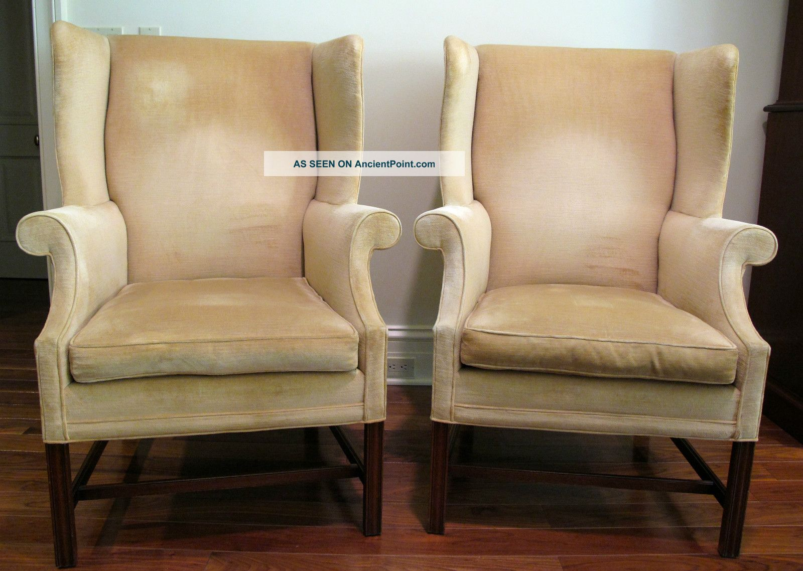 Pair Chippendale Style Wing Back Chairs,  Southwood Post-1950 photo