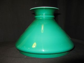 7 3/8th Inch Gren Cased Shade For An Oil Lamp photo