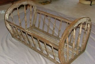 Anitique Baby Crib Or Blanket Chest photo