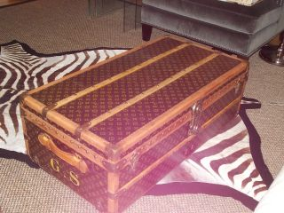 Antique Louis Vuitton Steamer Cabin Trunk - Fitted Interior - Clean - photo