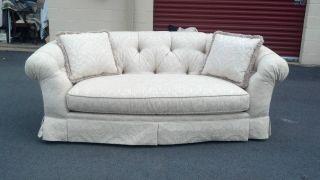 Clyde Pearson Antique White Sofa photo