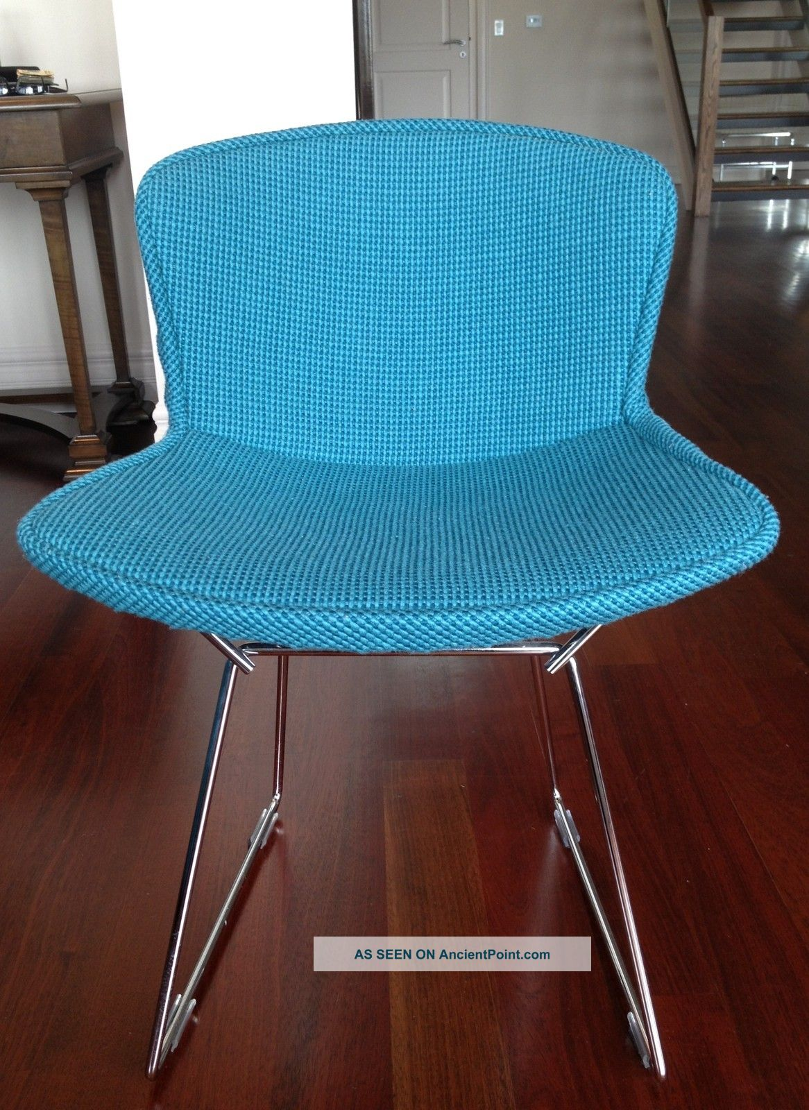 Auth.  Knoll Bertoia Wire Chair Boucle Full Cover Set Of 4 - Turquoise - Nwot Post-1950 photo