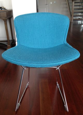 Auth.  Knoll Bertoia Wire Chair Boucle Full Cover Set Of 4 - Turquoise - Nwot photo