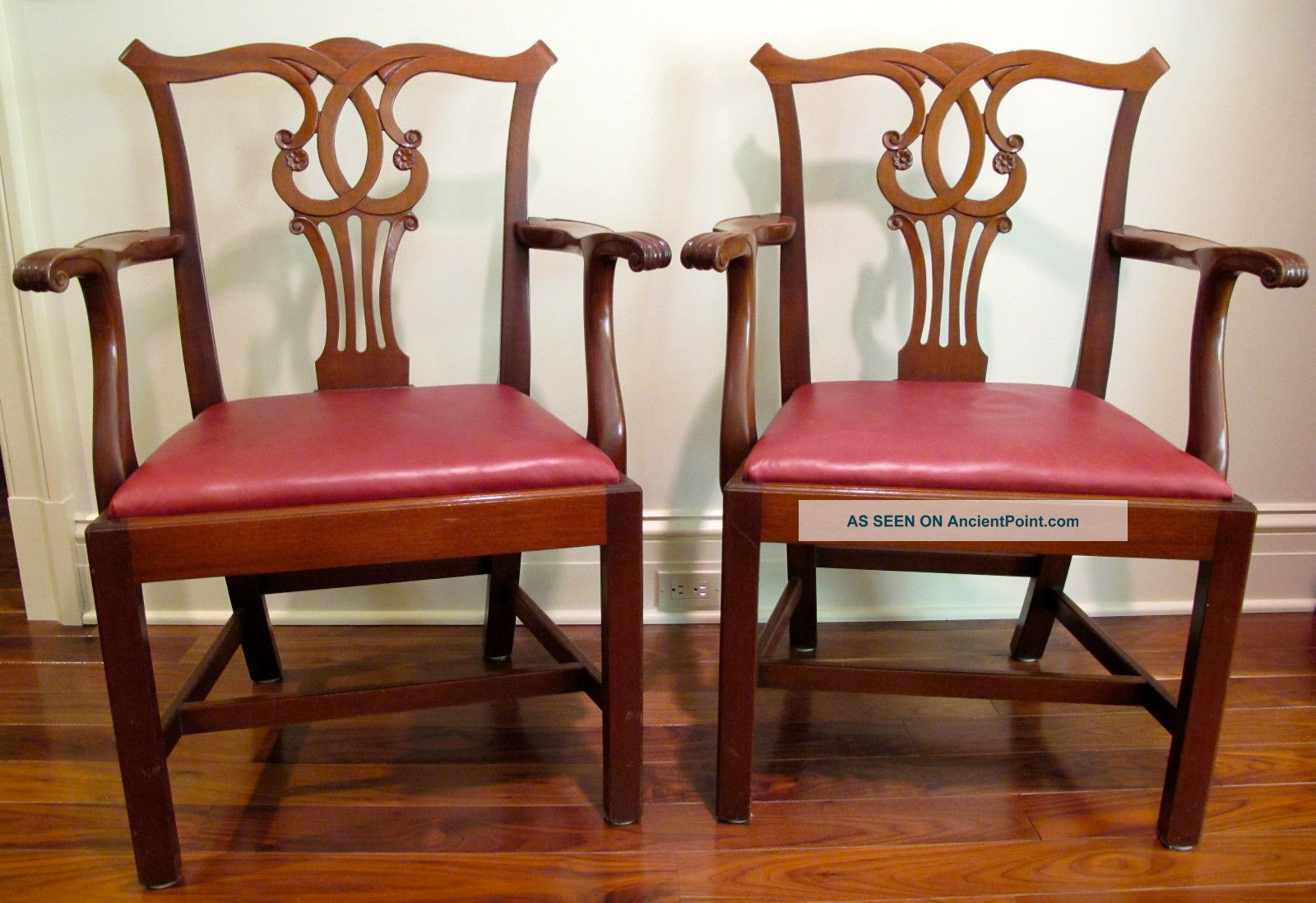 Pair Top Qualilty Chippendale Armchairs,  Kittinger Quality Post-1950 photo