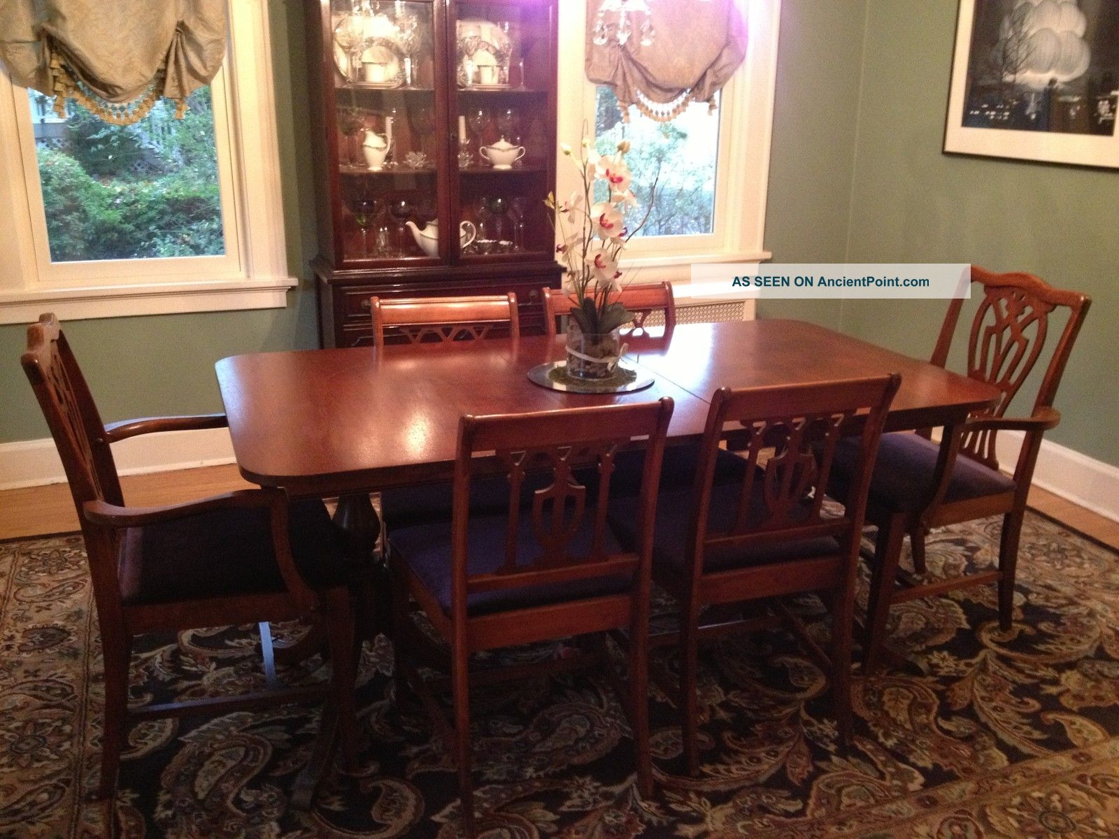 Antique Dining Room Set Incl Buffet And China Cabinet